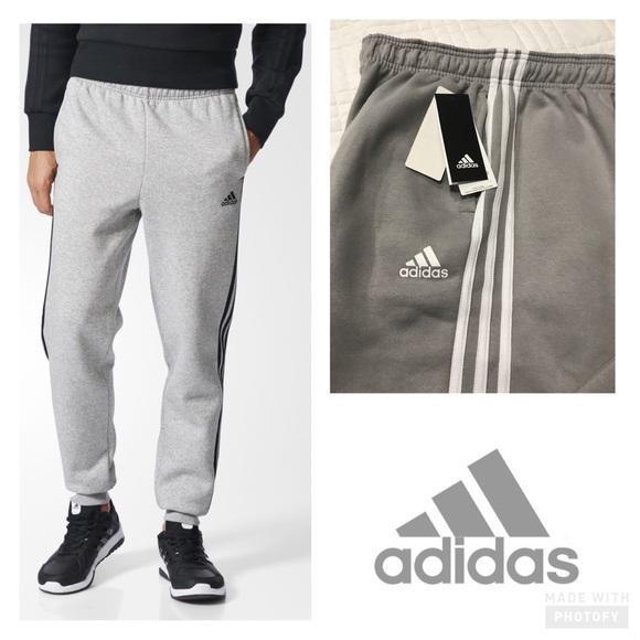 adidas 3 stripe jogging pants uomo